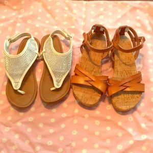 Other - 2 pair girls sandals